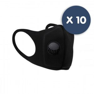Durable Neoprene Respiratory Face Mask With Valve - pack of 10