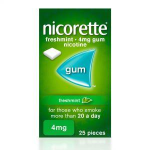 Nicorette Freshmint Sugar-Free 4mg Nicotine – 25 Pieces