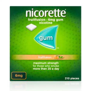 Nicorette FruitFusion 6mg Gum - 210 Pieces