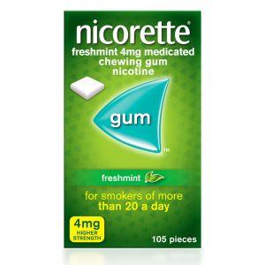 Nicorette Freshmint Sugar-Free Gum 4mg Nicotine – 105 Pieces