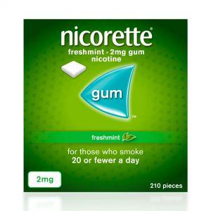Nicorette Freshmint Sugar-Free 2mg Gum - 210 Pieces