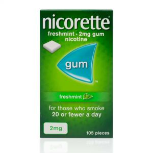 Nicorette Freshmint Sugar-Free 2mg Gum - 105 Pieces