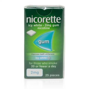 Nicorette Icy White 2mg Gum – 25 Pieces