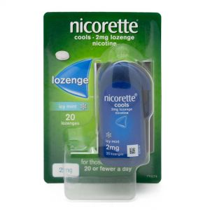 Nicorette Cools Icy Mint 2mg Nicotine – 20 Lozenges