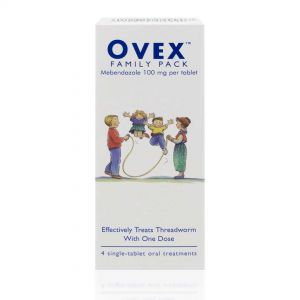 Ovex Family Pack - 4 Threadworm Treatment Tablets