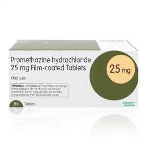 Promethazine Hydrochloride - 56 x 25mg Tablets