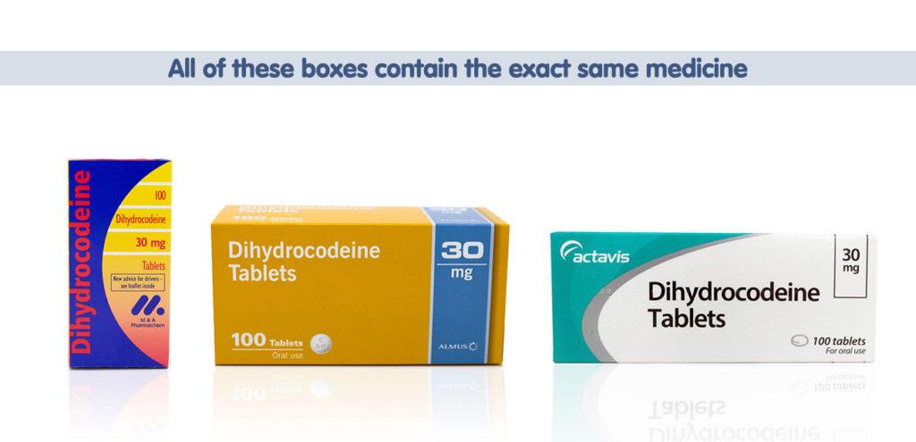 Dihydrocodeine comparisons