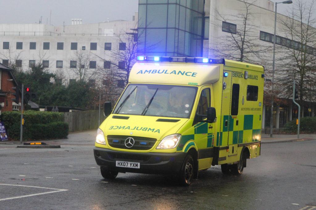 Ambulance responding to Sertraline sudden death